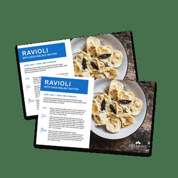 branded ravioli recipe cards