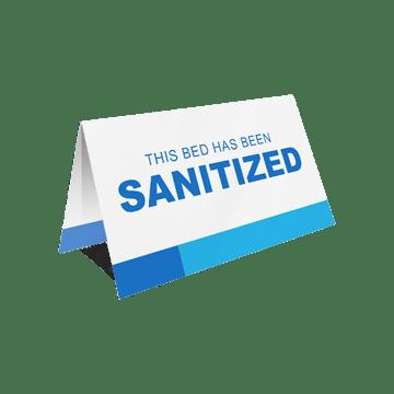 fold-over sanitation card