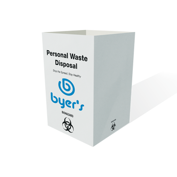 personal waste disposal basket