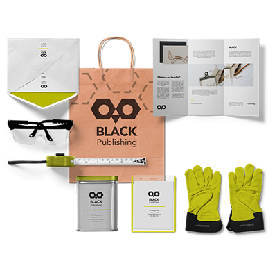 Kit for manufacturing employee that contains printed safety materials and personal protective equipment