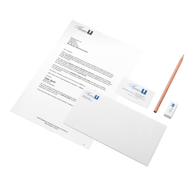 printed stationery and branded business systems, letterhead, envelopes, business cards, office supplies