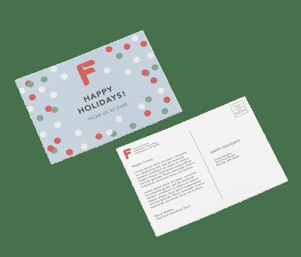insurance stationery holiday postcard